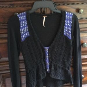 Free People XS crochet sweater